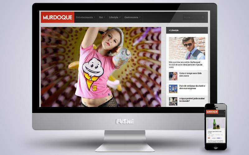 Murdoque, um site de entretenimento, diversão e conhecimento com uma linguagem diferente