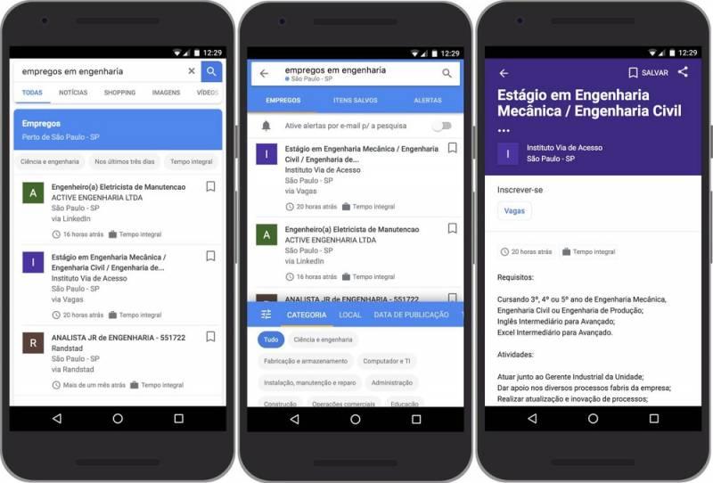 Google Jobs: busca por vagas de emprego chega ao Brasil