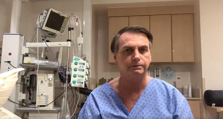 Bolsonaro fala antes da cirurgia e lamenta Brumadinho