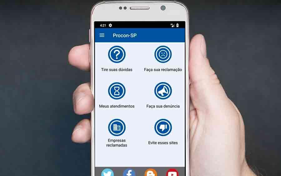 É fácil fazer reclamação com o App Procon-SP