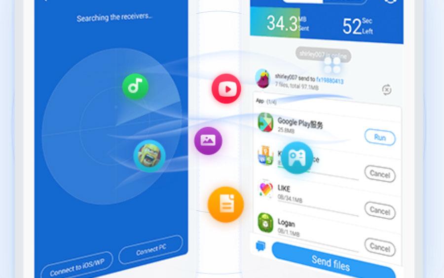 Transfira arquivos entre celulares rapidamente com o SHAREit