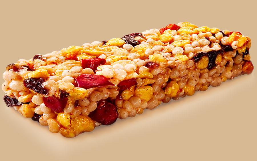 Como é feita a barra de cereal
