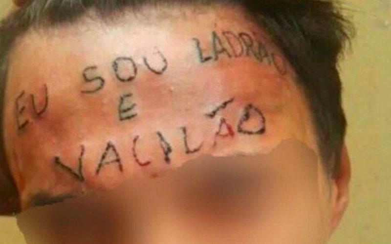 Rapaz que teve frase 'sou ladrão e vacilão' tatuada na testa acabou sendo condenado a 4 anos e 8 meses de prisão por roubo
