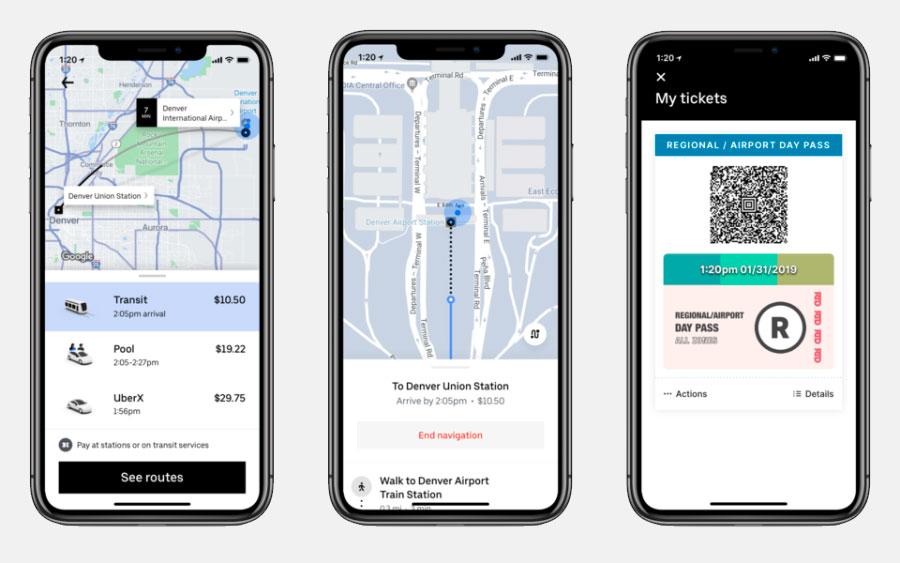 Aplicativo Uber começa a mostrar opções de transporte público