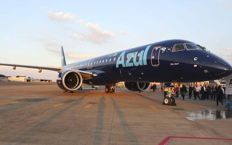 Azul recebe o maior avião comercial fabricado no Brasil
