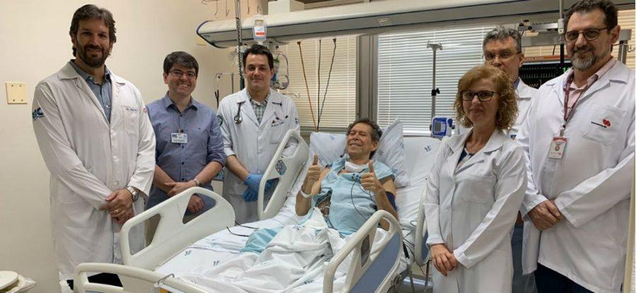 Paciente com linfoma avançado e refratário à quimioterapia foi atendido em Ribeirão Preto por pesquisadores do Centro de Terapia Celular, um CEPID apoiado pela FAPESP; técnica conhecida como terapia de células CAR-T foi usada pela primeira vez na América Latina (foto: divulgação)