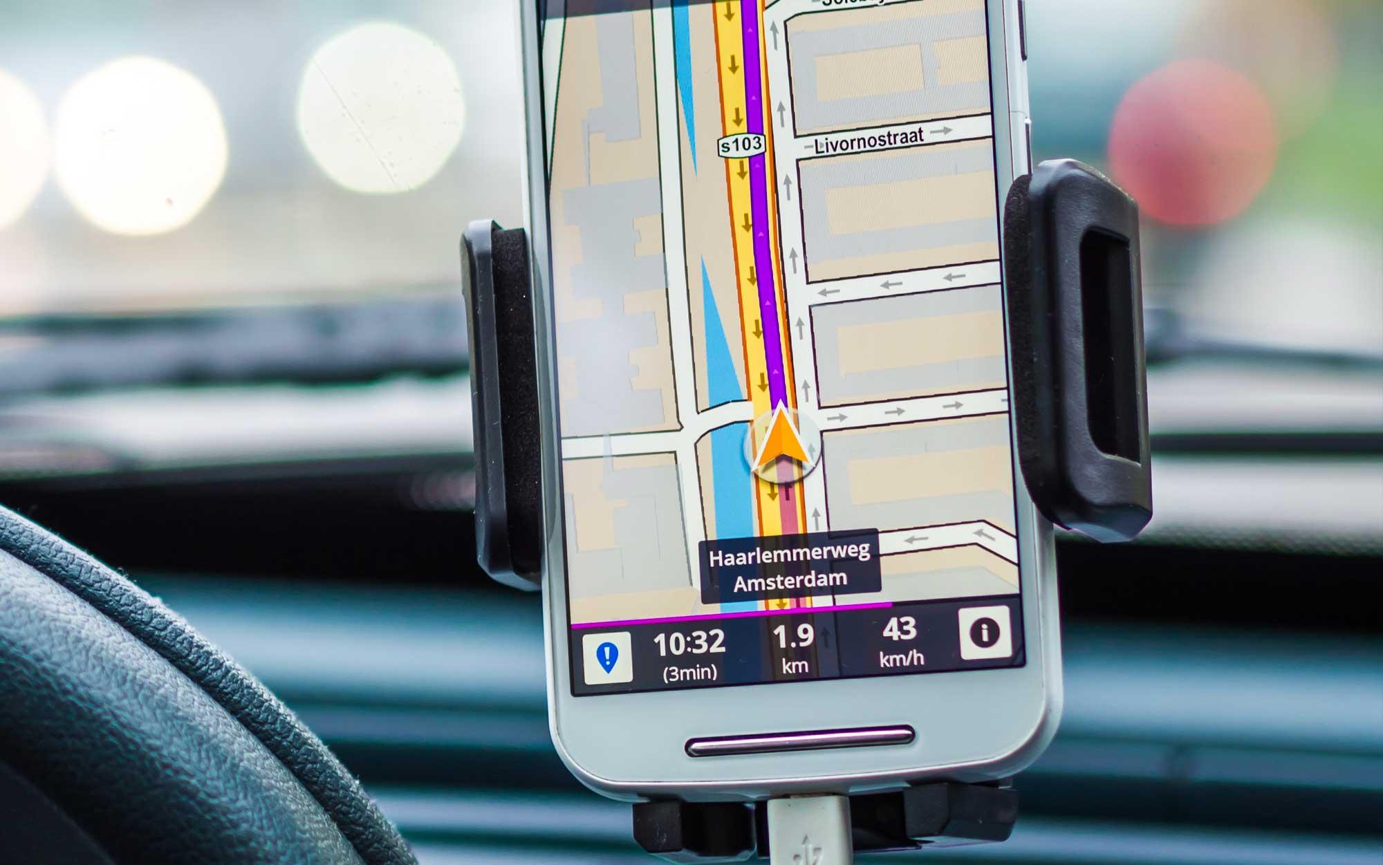 App de GPS no celular