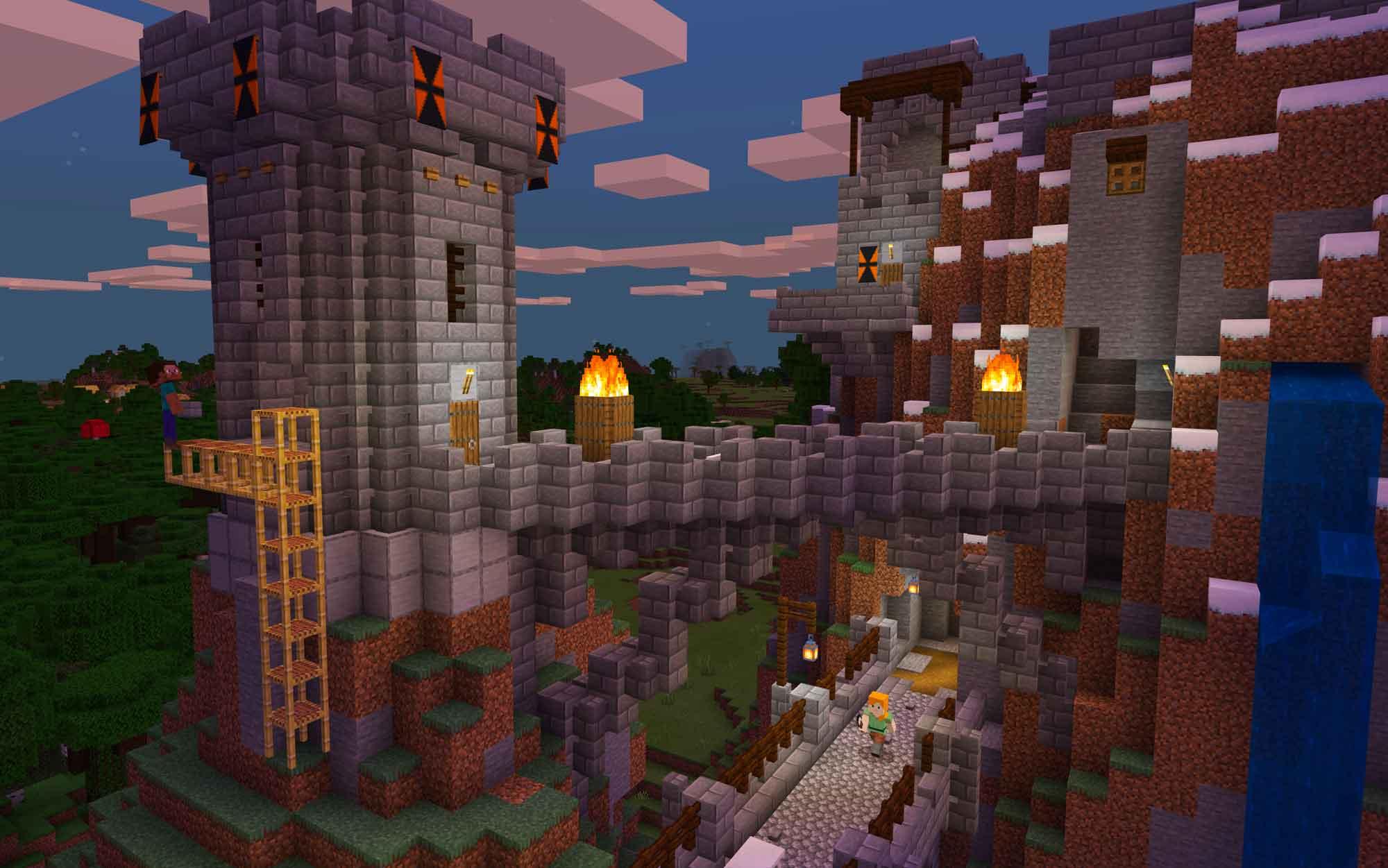 Explore mundos infinitos e construa desde simples casas a grandiosos castelos