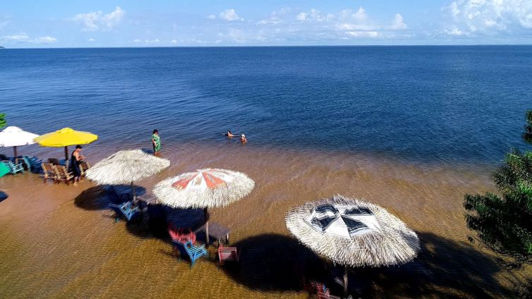 Praia de Ponta de Pedras, Alter do Chão (PA) - Divulgação/TV Brasil