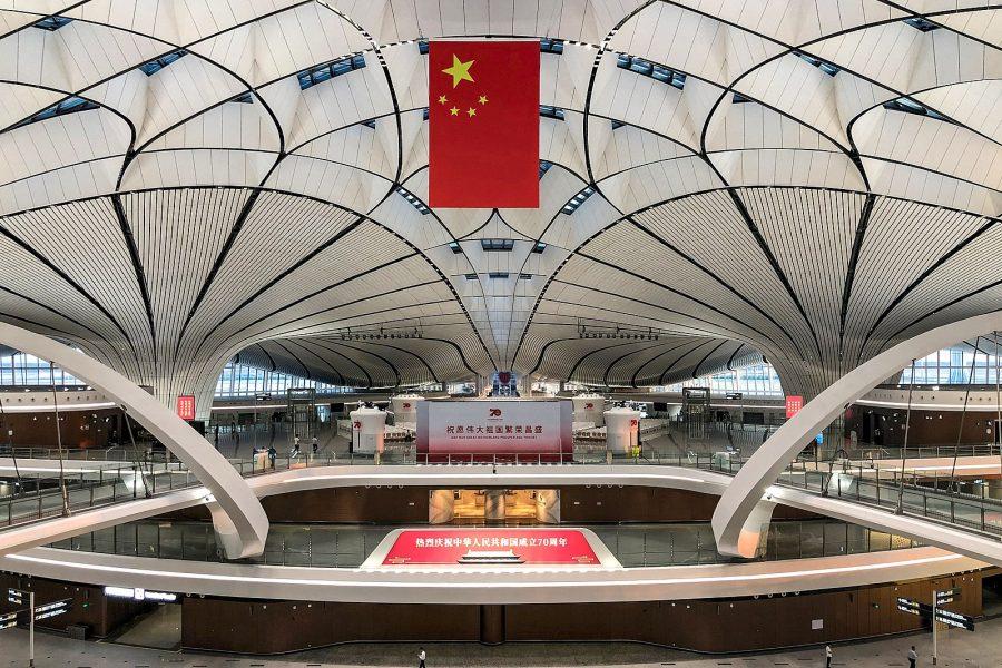 O espaço reservado para a inspeção de imigração foi o local da cerimônia de abertura da PKX, onde o presidente Xi Jinping declarou o aeroporto aberto (foto: N509FZ / wikimedia)