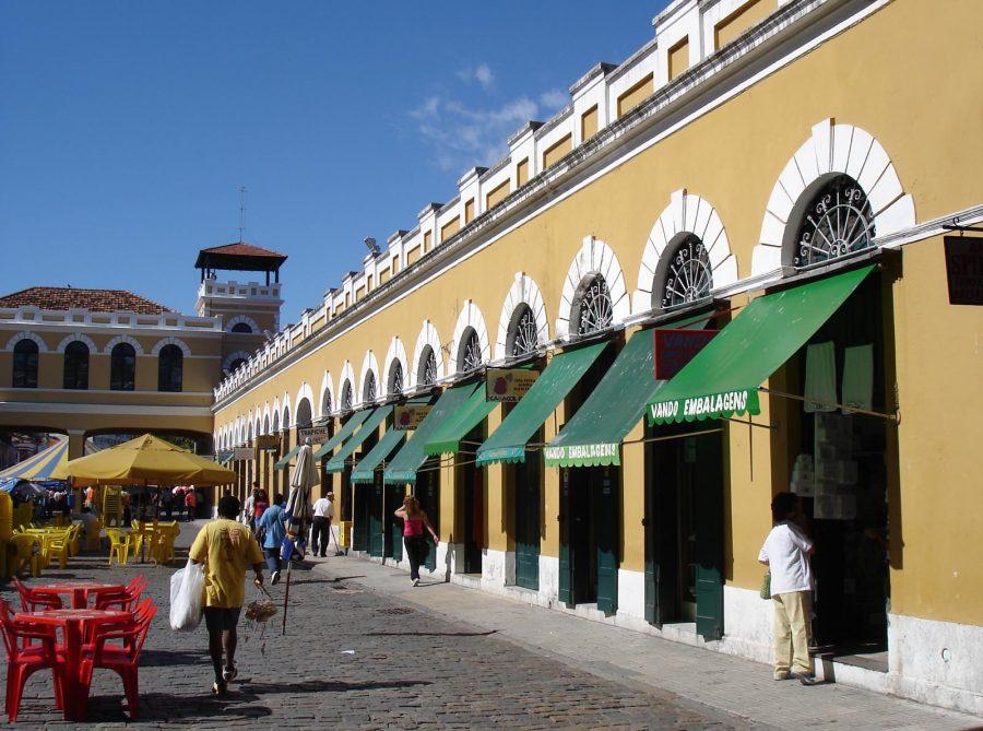 Vão central do Mercado Público de Florianópolis (foto: Fernando Dall'Acqua / wikimedia)