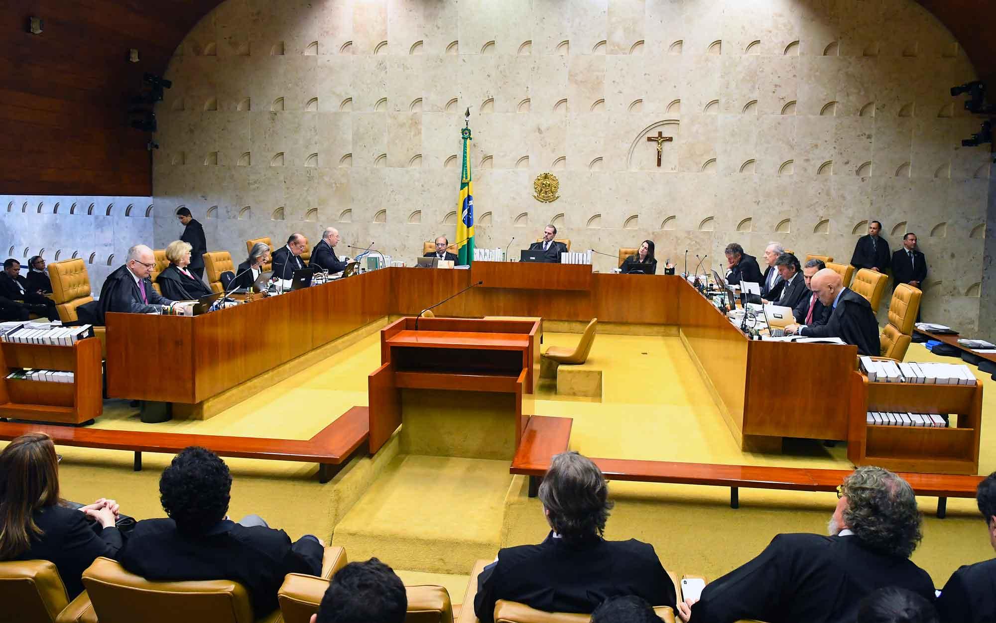STF derruba decisão que permitia prisão apos condenação em segunda instância por 6 votos a 5 (foto; CARLOS ALVES MOURA)