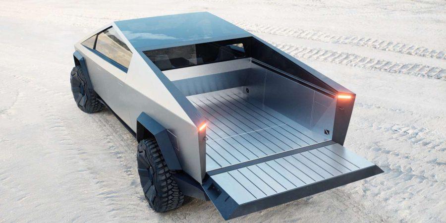 Com capacidade de carga útil de até 3.500 libras e suspensão pneumática ajustável, o Cybertruck é uma ferramenta poderosa