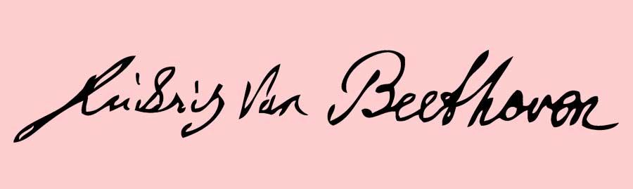 Assinatura de Ludwig van Beethoven