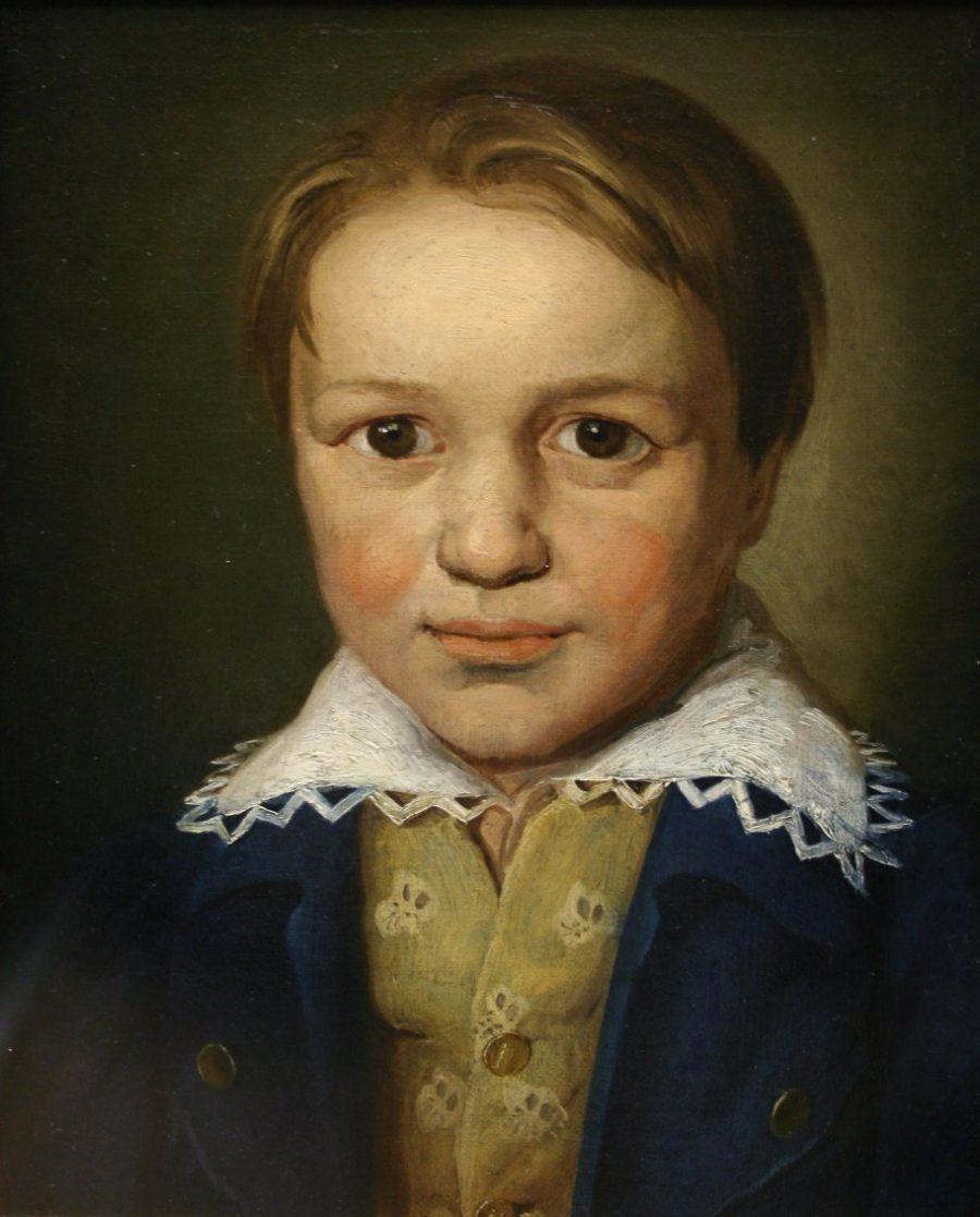 Retrato de Beethoven, aos 13 anos, de um mestre desconhecido de Bonn