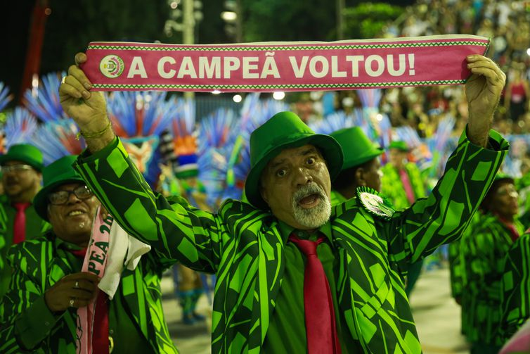 Desfile da estação primeira de Mangueira, campeã do carnaval do Rio de Janeiro - Tomaz Silva/Agência Brasil