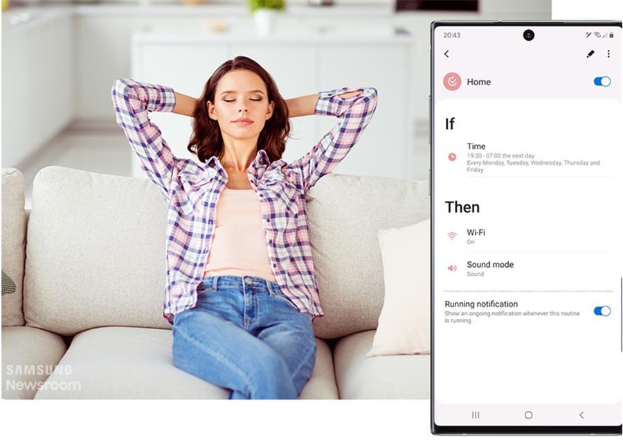 As rotinas Bixby utilizam inteligência artificial para aprender sobre seus padrões e preferências de uso