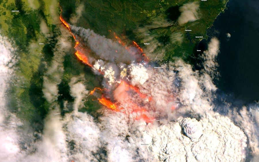 Fumaça de incêndios da Austrália deve chegar no Brasil