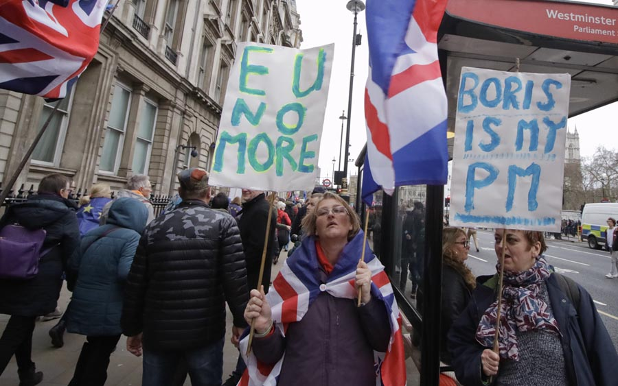 Protestos do dia de Brexit (foto: Steve Eason / Flickr)