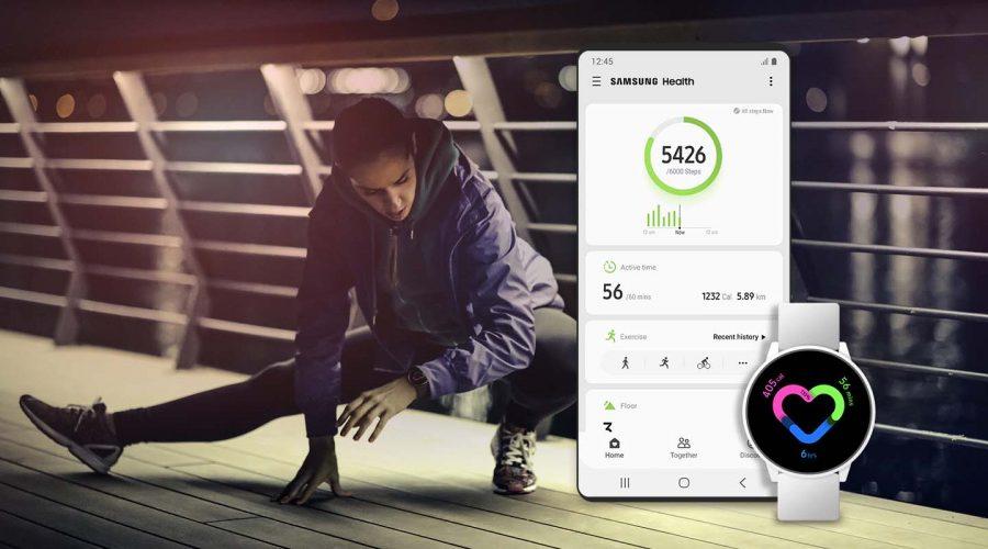 O Samsung Health controla sua atividade, alimentação, dados de estresse, frequência cardíaca e sono, além de fornecer informações para você.
