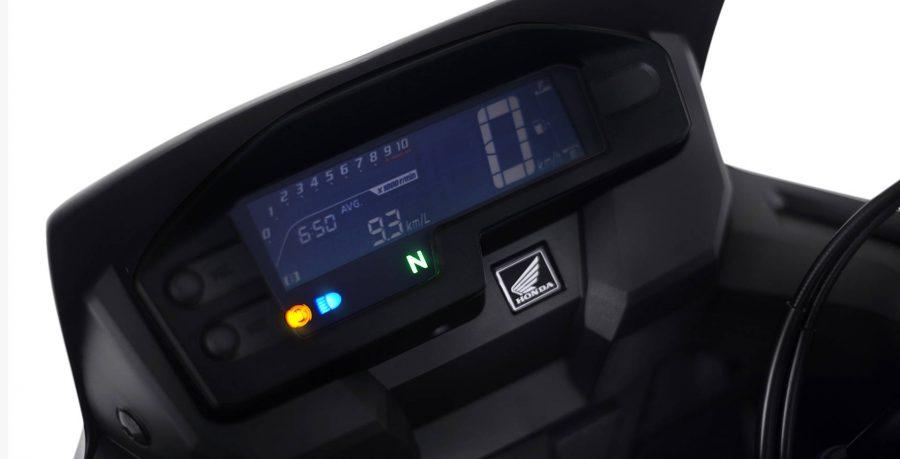 Na XRE 300 você tem um painel totalmente digital