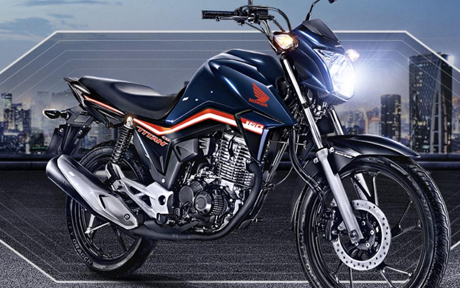 Confira a nova CG 160 Titan da Honda, que tem estilo e segurança