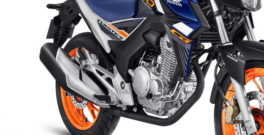 A CB Twister 2020 vem equipada com motor OHC de 250 cilindradas