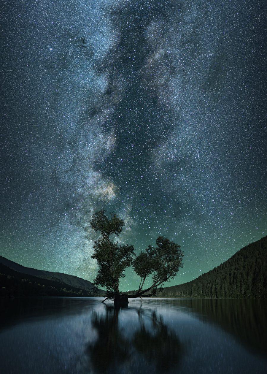 A galáxia da Via Láctea tem bilhões de estrelas