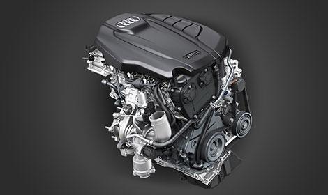 Motores 2.0 Turbo FSI de 190 e 252 cavalos.