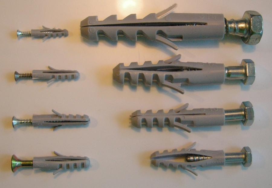 Buchas para fixação de parafusos (Philip Bosma / Wikimedia)