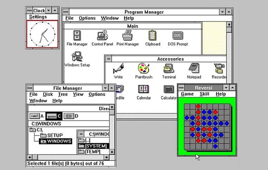 Windows 3.x (1990)
