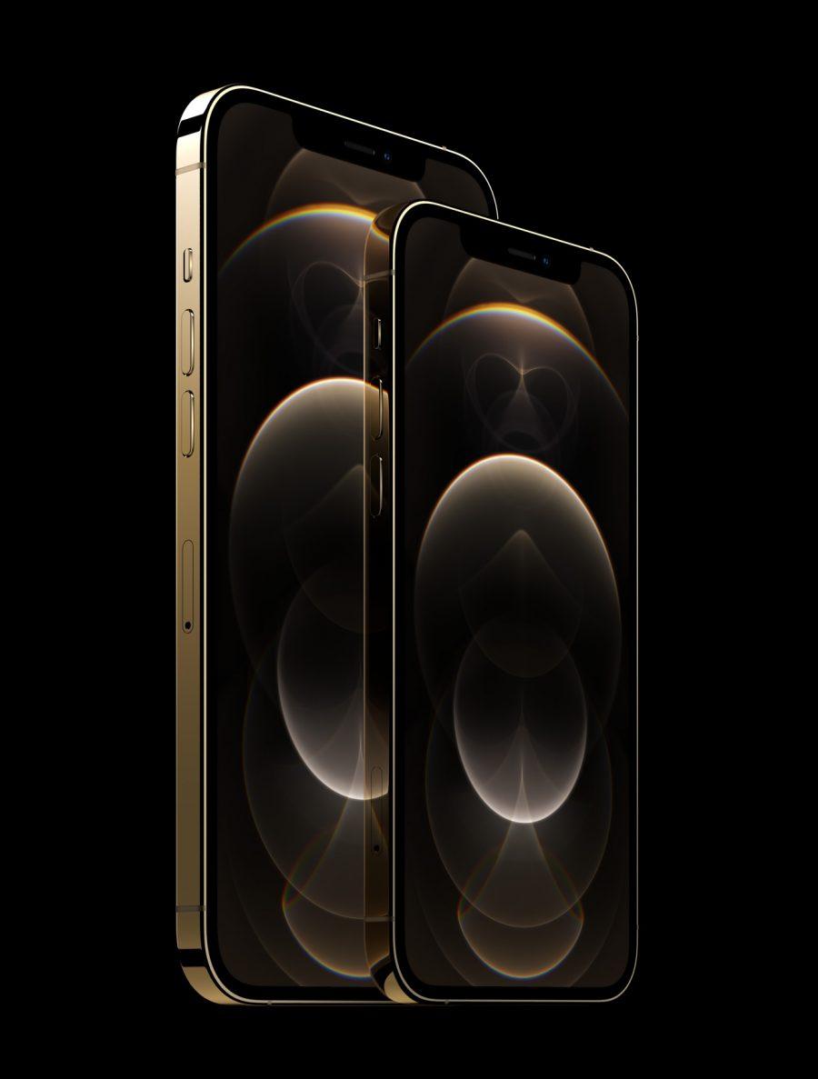 O iPhone 12 Pro de 6,1polegadas e o iPhone 12 Pro Max de 6,7 polegadas contam com as maiores telas Super Retina XDR displays já usadas em um iPhone.