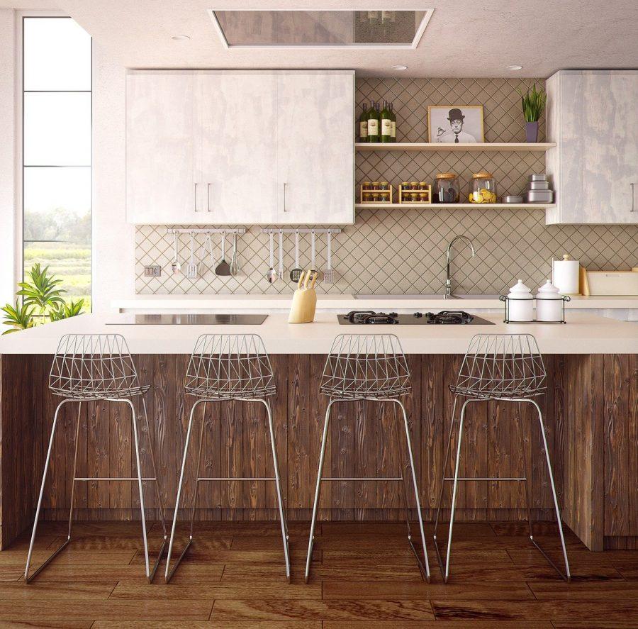 Aposte em uma linda cozinha americana simples