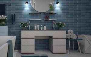 Um banheiro pequeno pode ser lindo e confortável