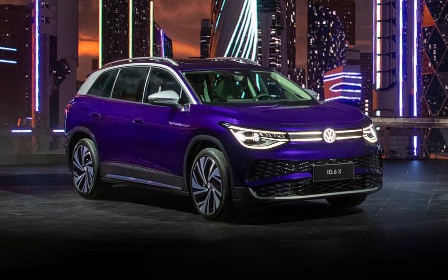 SUV elétrico VW ID.6 foi apresentado no Salão de Xangai