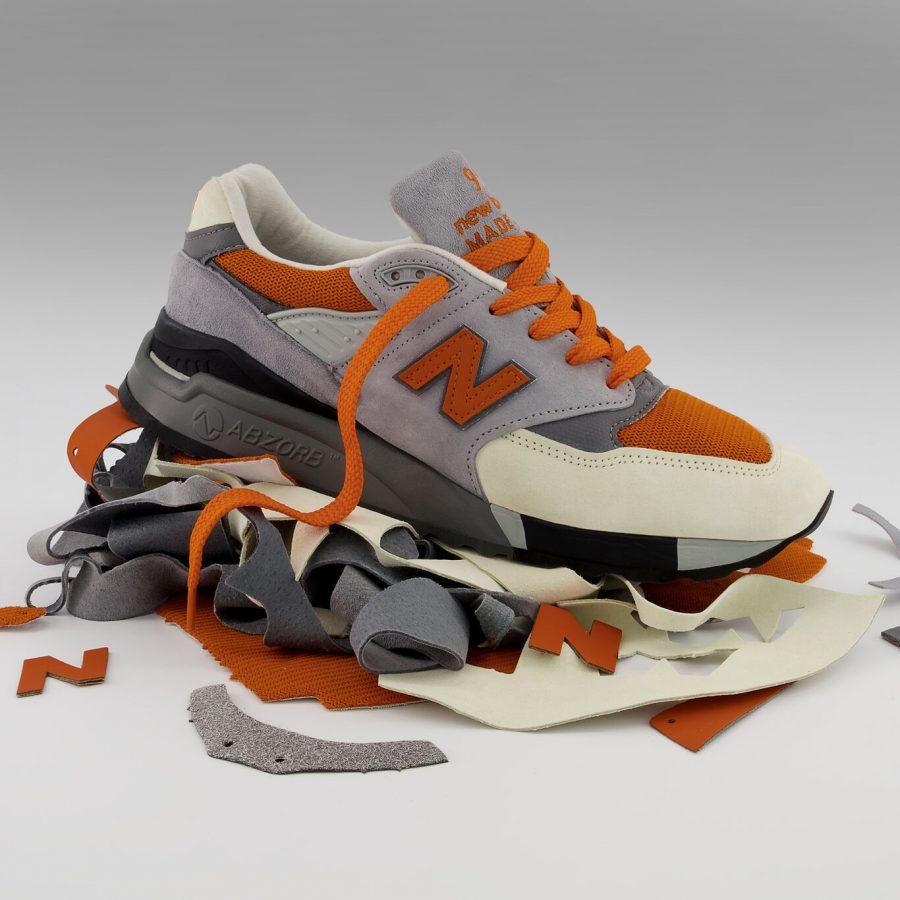 Feito com materiais excedentes para uma abordagem mais cuidadosa ao design e fabricação de tênis